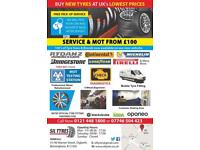 Car Service * MOT * Diagnostics * Alighnment * New Tyres * Rim Refurbishment