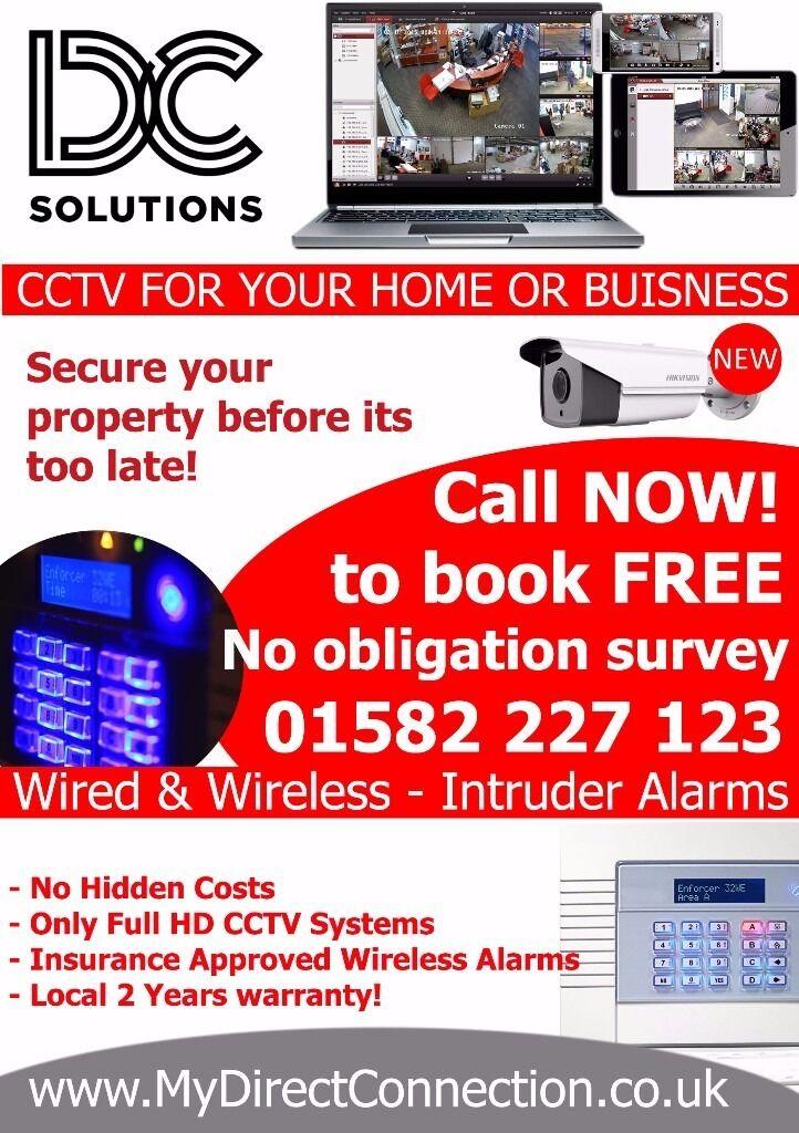 CCTV - Intruder Alarms - Electrician -Luton, Dunstable, Harpenden, Hitchin, Leighton, Bedford, Hemel