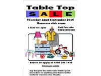 Table top sale at our pensioners club