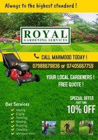 Gardening services and maintenance / Landscaping services