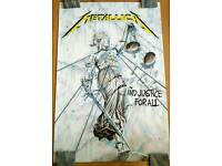 Metallica Poster And Justice For All