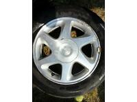 "Nissan 15"" alloy wheels with tyres 4 stud"