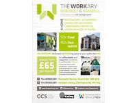 Co working in Ealing, W7 3HL @ The Workary - Hanwell | join our 24/7 space from £65pm!