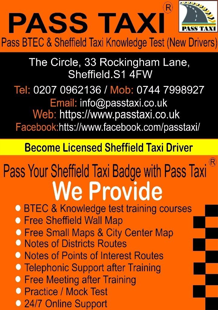 Sheffield Taxi Knowledge Test Training & Taxi BTEC Level 2