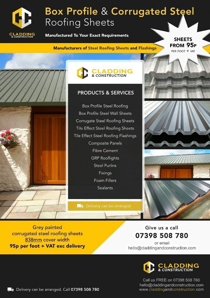 Box Profile & Corrugated Steel Roofing Sheets Available For Sale