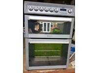 Hotpoint Electric Fan, Hob and Grill Double Oven Cooker