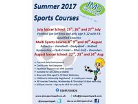 3 Day Summer Holiday Sports Courses