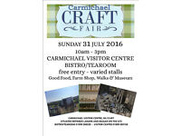 Craft Fair at Carmichael Visitor Centre 31st July 2016