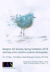 Islington Art Society Spring Exhibition 2018 at The Gallery, Stoke Newington N16 0JS