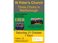 Concert Tickets - 3 Choirs in Marlborough - Fundraising for Wiltshire Air Ambulance