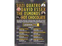 LIVE LEGENDS TICKETS x 2 @ WEMBLEY STADIUM 20/10/17 (1 Ailse Seat)