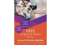 Free English and Math Courses/ Starting Soon/ North, West, South,East London/07826519520