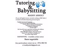Flexible Babysitting and Tutoring available