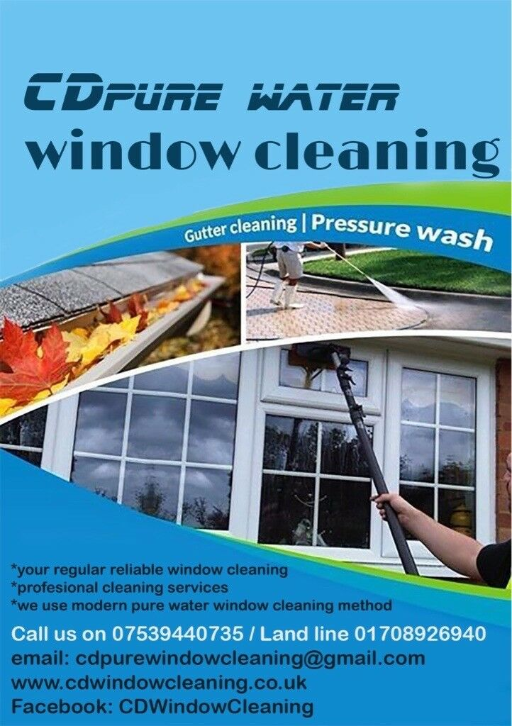 Window cleaning, Jet wash pressure cleaning- driveway
