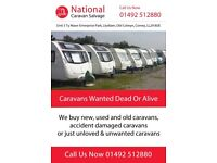 *wanted* scrap, accident damage, write off caravans cash paid same day pick up