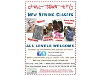 NEW SEWING CLASSES at All Sewn Up MILLINERY, EMBROIDERY, CLOTHES MAKING & UPCYCLE, SEWING TECHNIQUES