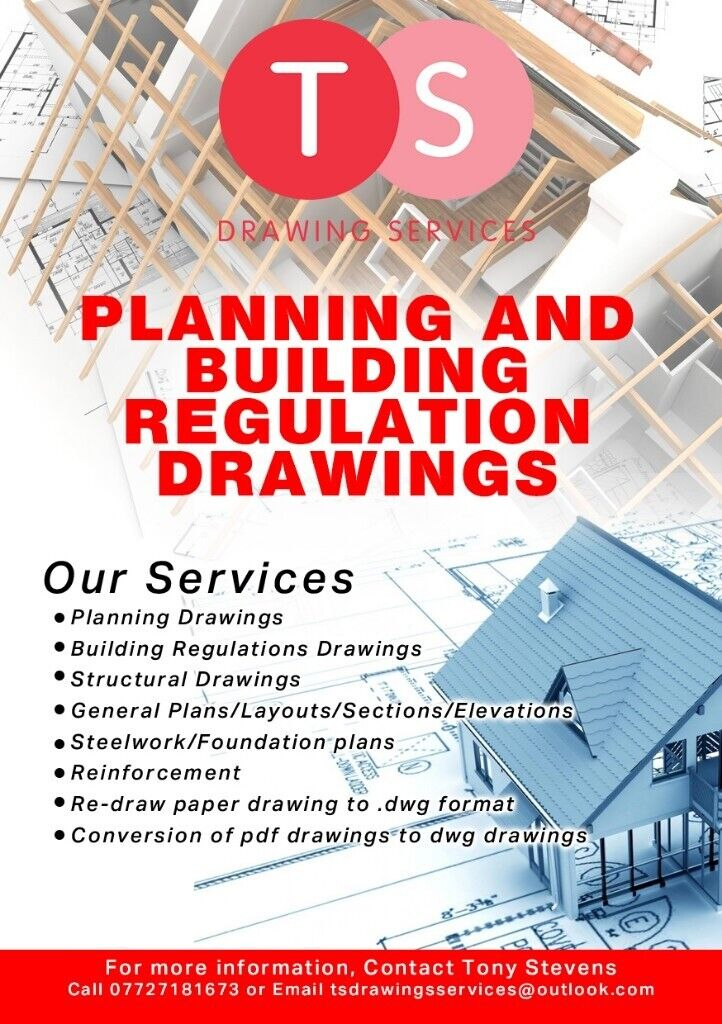 Planning and Building reg's drawings - Extensions, loft