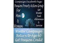 Get back pension credit at 60