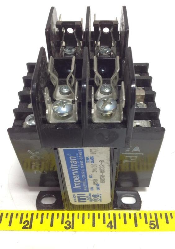 MICRON IMPERVITRAN 050KVA TEMP-105 CONTROL TRANSFORMER B050-0832-8