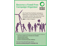 FREE training! Become a Fossil Free Campaign Organiser with Friends of the Earth Scotland