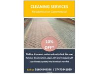 Professional Pressure Washing Services - Driveway, Patio, Paving & Decking Cleaning.
