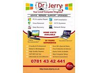 Dr Jerry PhD Computer Engineer - Laptop & Computer Repair at your Home or Work