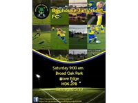 Saturday 9am-10am girls football 5-10yr old players wanted - Brighouse Juniors