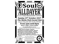 Charity Soul Alldayer in aid of Cancer Research UK