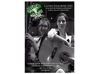 LIVELY GUITAR AND FIDDLE FOLK DUO AVAILABLE FOR WEDDINGS, PARTIES AND MUCH MORE!
