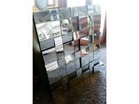 Beautiful multi faceted large mirror