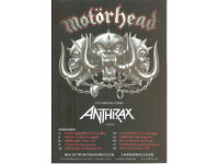 Motorhead Kings of the Road Official UK Tour Flyer 2012 + copies of VIP Documents