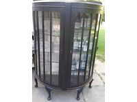 Shabby Chic Drinks Cocktail Cabinet painted with Farrow & Ball Pitch Black