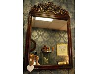 Gorgeous Wooden Carved Framed Mirror - WE CAN DELIVER ACROSS UK