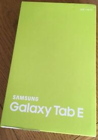 **SEALED** SAMSUNG GALAXY TAB E BRAND NEW AND INCLUDES 1 YEAR WARRANTY