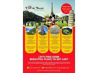 SUMMER TRIPS SCOTLAND, PARIS & DISNEYLAND, BRUSSELS & AMSTERDAM, ISLE OF WIGHT, DURDLE DOOR, WALES