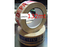 330 ROLLS 132 mt x 50mm packaging tape (already branded)