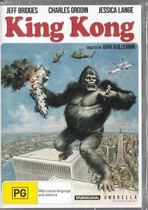 KING KONG - 1976 - JEFF BRIDGES & JESSICA LANGE - NEW R4 DVD FREE LOCAL POST