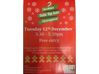 BAPP Christmas fair & Table top sale