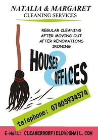 CLEANING SERVICES (End of tenancy-after renovation-domestic cleaning)