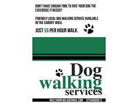Friendly and reliable dog walker! Six pound per hour walk!