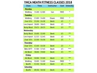 NEW Fitness Classes at YMCA NEATH