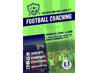 Football coaching 5-7 year olds