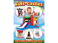 PARTY PACKAGE HIRE Bouncy Castle Character Mascot Face Painting Balloon Modelling