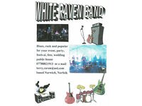 THE WHITE RAVEN BAND is back gigging with new line up looking for gigs