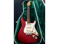 1997 Fender American Standard Candy Apple Red Stratocaster electric guitar for sale