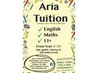 **Excellent Tutoring in Maths, English & 11+ from Year 1-11**