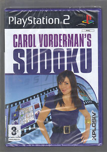 CAROL VORDERMAN'S SUDOKU - sealed/new - UK PAL PLAYSTATION 2 PS2 GAME