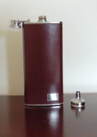 Hip Flask 5 oz with hinged cap - may be personalised as gift for Wedding or other Celebration