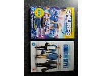 New Smurfs and Going in style dvds
