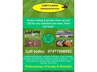 Grass Cutting £25 + Garden Services Wrexham